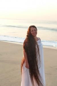 loose hair on beach