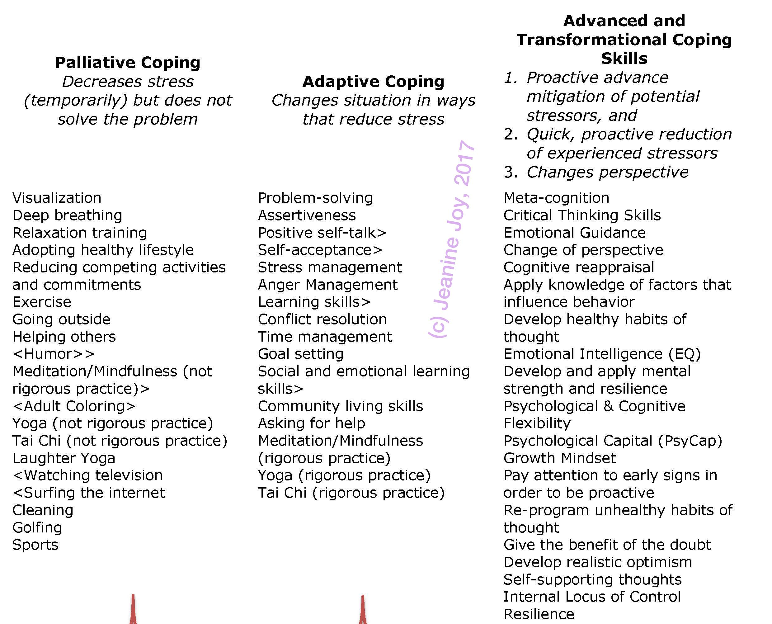 Advanced and Transformative Coping Skills Build Resilience